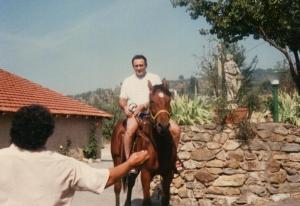 The doctor riding Bimbo