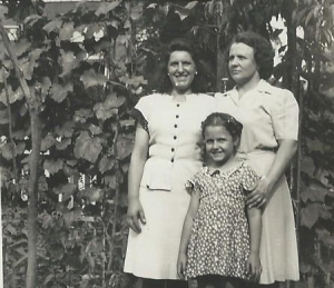 Mother, me and my aunt, one of the many relatives she sheltered and cared for from Italy.