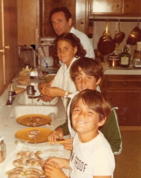 1. 1978 our children cleaning fish with their dad on a Sunday afternoon