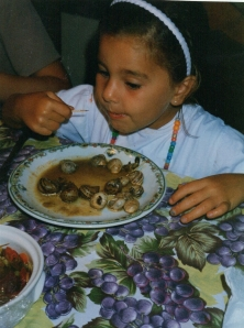 11. Raised with food culture, children learn early to  enjoy  snails,