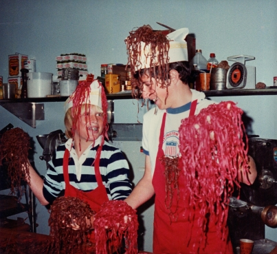 Homemade pasta made with organic beets, no dyes or preservatives.   Yikes! Wondering if they served them.