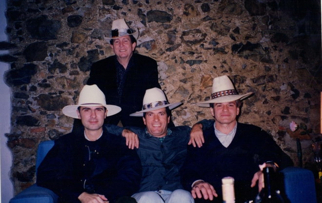 got some cowbow hats and had a party