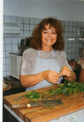 Erna in the kitchen