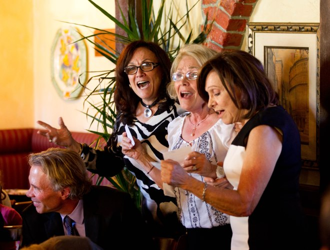 singing to mom on her 100th bd last year
