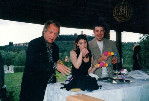 Memories with Hutch (David Soul) in our outside kitchen