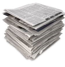 Newspaper for toilet